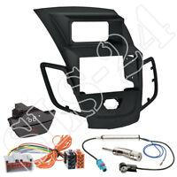 Ford Fiesta JA8 ab10/08 Doppel-DIN Blende Radio ISO Adapterkabel Warnblinker SET