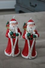 Two Nwt World Market Santa Claus Candle