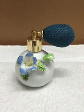 Vintage Porcelain Perfume Atomizer With Raised Flowers