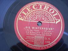 (9695) Gerhard Hüsch - Die Winterreise- Schubert  (78 rpm) Platte 25 cm