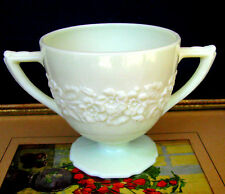 Indiana Custard Depression Glass Flower and Leaf Band French Ivory Sugar Bowl