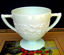 Indiana Custard Depression Glass Flower and Leaf Band French Ivory Sugar Bowl