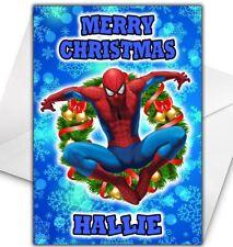 SPIDERMAN Personalised Christmas Card - Marvel Comics Christmas Card
