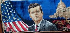 VINTAGE JOHN F. KENNEDY WALL HANGING - RUG - MADE IN ITALY - WITH TAG