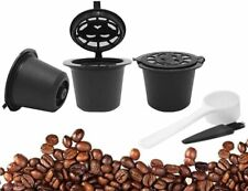 3Pcs Reusable Refillable Nespresso Coffee Capsule with Plastic Spoon Filter Pod