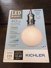 Kichler 40W Equivalent Dimmable Soft White G25 Led Decorative Light Bulb 777445