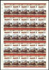 1846 Furness Railway (FR) Coppernob 0-4-0 Imperf/Imperforate Train Stamp Sheet