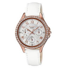 Casio Sheen Swarovski Crystals Bezel Ladies Watch SHE-3062PGL-7A