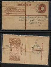 Australia   registered postal envelope  local use                      MS0221