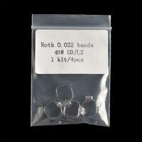 4pc/Pack Dental Ortho 1st Molar Buccal Tubes Band Conv Roth 022 U3/L2 35#-40+#