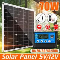 70W 12V / 5V Solar Panel USB Car Battery Charger 10A - 50A Mini Solar Controller