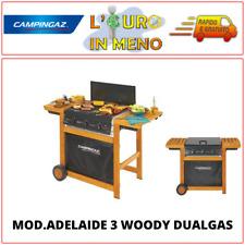 Barbecue gas metano Campingaz 3 series Adelaide 3 Woody Dualgas 3 Bruciatori14KW