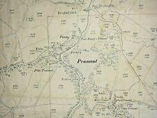 Old Antique Ordnance Map 1901 Montgomeryshire XXXIV.1 Pennant Village ...
