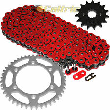 Red O-Ring Drive Chain & Sprockets Kit Fits HONDA XR400R 1996-2004