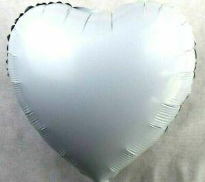 10 Stück XL Helium Folienballons Herz Weiß Valentinstag Deko Hochzeit Verlobung