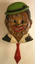 Vintage 1930's Lux Dixie Boy Animated #D-90919 Key Wind Wall Clock