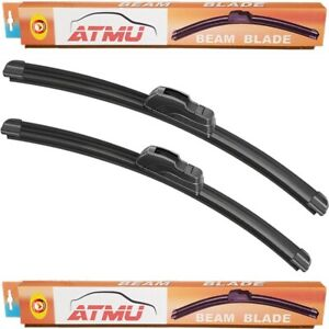 "Fits 07-11 Dodge Nitro (19""+19"") Windshield Wiper Blades Set Frameless"