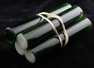 Bakelite Catalin Rod Green Color Phenolic Resin 330 Grams Lot