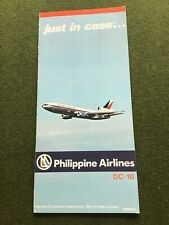 safety card pal philippine airlines dc 10