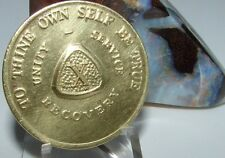 Alcoholics Anonymous Aa 10 Year Month Bronze Medallion Token chip coin Sobriety