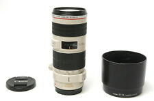 Canon Zoom Lens EF 70-200 mm 1:4 L IS USM Used Excellent w/ Hood, Tripod Mount