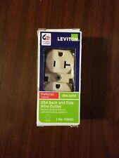 New! Leviton Duplex Receptacle 20-Amps 125-Volt Ivory Outlet 5-20R 0Cr20-0Is