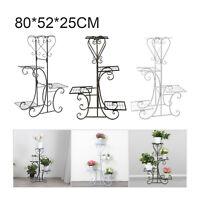 Indoor Outdoor Plant Stand 4 Tier Metal Flower Pots Holder Rack Display Shelf