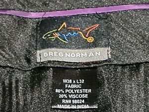 Greg Norman Grey Mens Dress Pants Size W38 Tailored Trousers Pleated Front