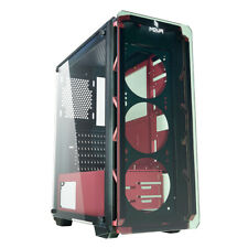 CASE PC GAMING Atx Noua Cool G2 ROSA Front & Dual Side Glass