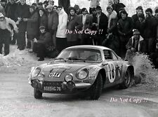 Jean-Claude Andruet Alpine-Renault A110 1800 Monte Carlo Rally 1973 Photograph 2