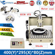 4 Axis 3040 CNC Router Engraver 800W Desktop Milling Engraving Drilling Machine