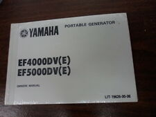 NOS Yamaha Owner's Manual Portable Generator EF4000DV EF5000DV LIT-19626-00-06