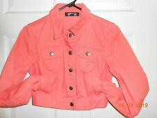Cute coral Forever 21 Premium Denim jean shrug jacket size S/P