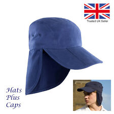 Legionnaire Cap Sun Hat UV Protection 100% Cotton Men's Women's Hat 8 Colours