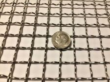 """Stainless Steel Mesh Crimped 304 Mesh #2 .063 Stainless Steel Wire Mesh 6"""" x 36"""""""