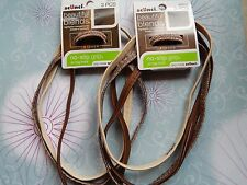 SCUNCI LOT 2 (6pcs) BEAUTIFUL BLENDS hair HEAD BANDS brown NO SLIP GRIP Bands