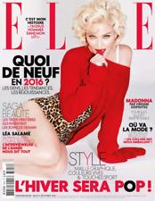 Madonna - French Elle France Magazine - December 2015 - Brand New & Unread