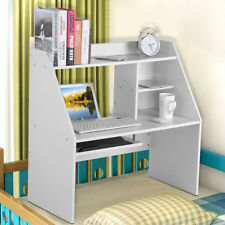 Wall Mounted Office Computer Desk Floating White Table PC Study Storage Shelf UK