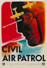 1943 Civil Air Patrol WWII Vintage Poster