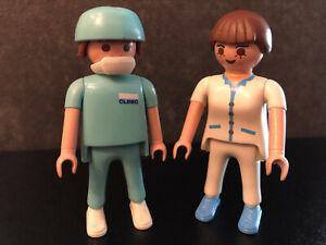 Playmobil Arzt und Helferin zur Tierarztpraxis 4346  Sammlungsauflösung