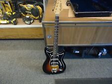 "Vintage 60's Hagstrom III Sweden 6 String Electric Guitar ""Sunburst"" W/Case"