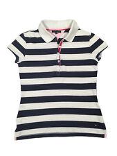 Tommy Hilfiger Damen Polo Shirt Hemd Gr S Schwarz Weiß Gestreift Hochwertig Top