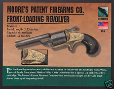 MOORE'S PATENT FIREARMS CO. FRONT-LOADING REVOLVER .32 Hand Gun PHOTO CARD