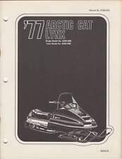 1977 ARCTIC CAT SNOWMOBILE LYNX  PARTS MANUAL