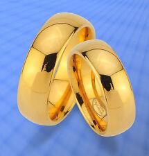 2 WOLFRAM TRAURINGE & GRAVUR GRATIS , RINGE komplett IP GOLD Platierung : JW30