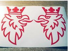 2 x RED Saab Griffin Logo Vinyl Car Sticker Directional Decal