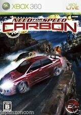 Used Xbox 360 Need for Speed Carbon MICROSOFT JAPAN JP JAPANESE JAPONAIS IMPORT