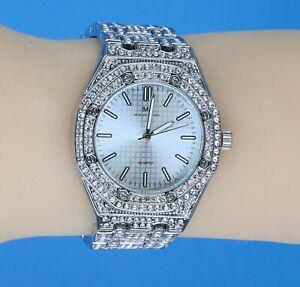 Women's Iced Lab Diamond Luxury Bezel & Band Hip Hop WGP Montres Carlo Watch