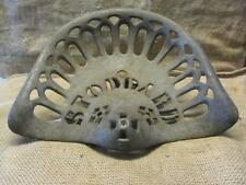 Vintage Stoddard Mfg Co Cast Iron Tractor Seat > Antique Farm Equipment 9798