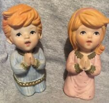 Home Interiors Vintage #5211 Boy & Girl Praying Figurines Homco Rare 1669C
